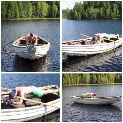 Plank auf dem Boot