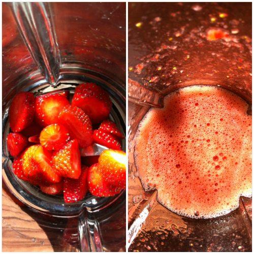 Erdbeer Wassereis selber machen
