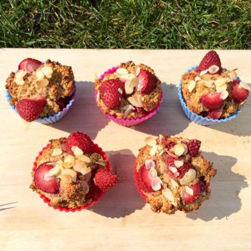 Erdbeer Haferflocken Muffins