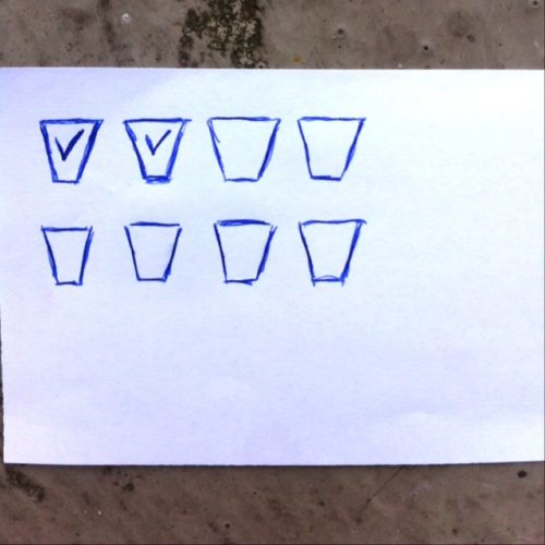 Strichliste Wasser