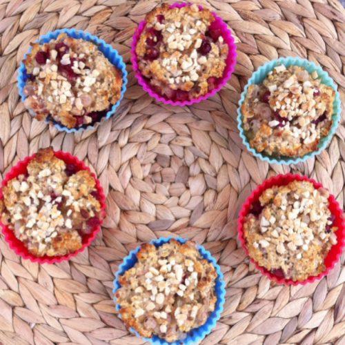 Johannisbeeren-Haferflocken-Muffins