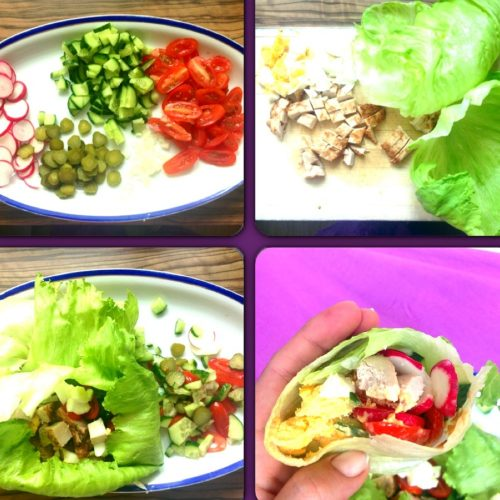Lowcarb-Salat-Wrap
