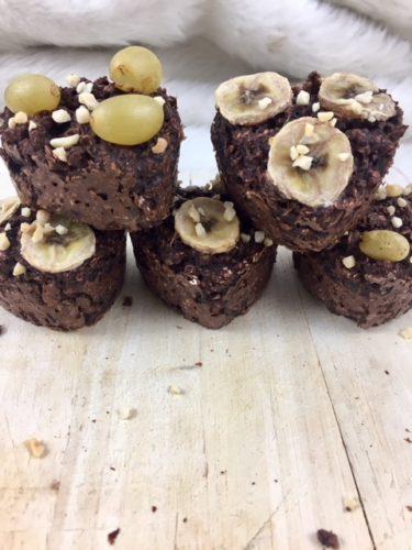 Gesunde Schoko Muffins mit Haferflocken