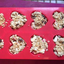 Quark Haferflocken Muffins Silikonform