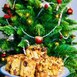 Quark Haferflocken Muffins vorm Weihnachtsbaum